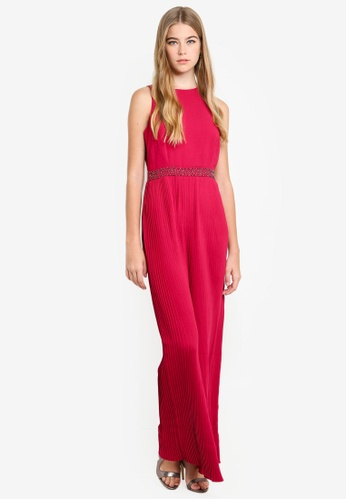 Little Mistress red Berry Pleat Maxi Dress CD17AAACB25857GS_1