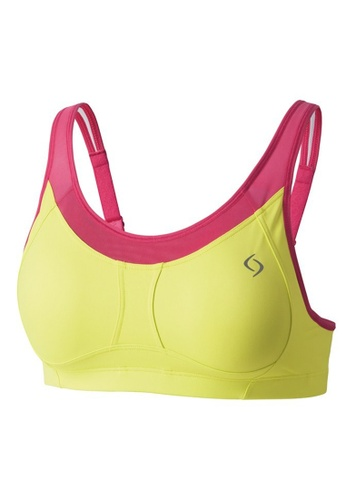 Neubodi pink and green Vero Flash Active Sports Bra (A/B Cup) NE503US0RM1AMY_1