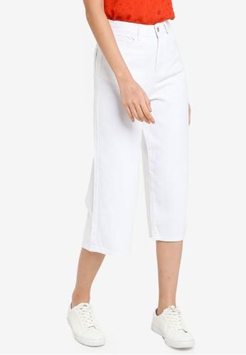 ZALORA BASICS white Denim Culottes 3E908AAF616918GS_1