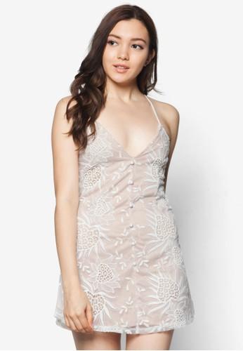 Jane 背部交叉esprit outlet尖沙咀細肩帶連身裙, 服飾, 短洋裝