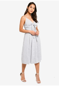 a29019c79c7eb 15% OFF MISSGUIDED Tie Front Button Down Midi Dress RM 149.00 NOW RM 126.90  Sizes 6 8 10 12 14