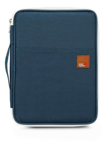 Bagstationz blue Lightweight Multipurpose Document Pouch CE598ACE8C8CB6GS_1