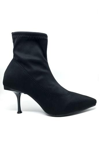 Twenty Eight Shoes black Socking Pointy Polyurethane Boots 066 1B5DESH1AF153BGS_1
