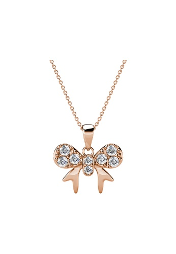 Her Jewellery gold Her Jewellery Minnie Bow Pendant (Rose Gold)  embellished with Crystals from Swarovski DC5E7AC70C41E8GS_1