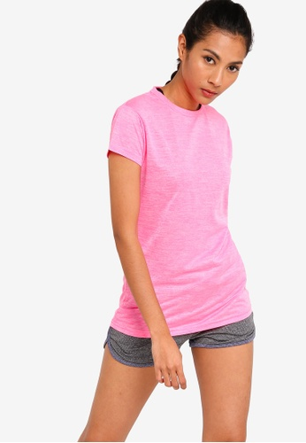 UniqTee pink Slim Crew Neck Tee FEE92AAFDC5A48GS_1