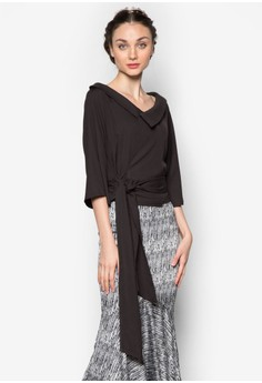 Boatneck Front Wrap Top