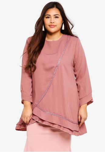 BYN pink Plus Size Muslimah Blouse EAB6CAA7D65F5AGS_1