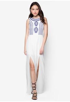 Love Jacquard Bodice Maxi Dress