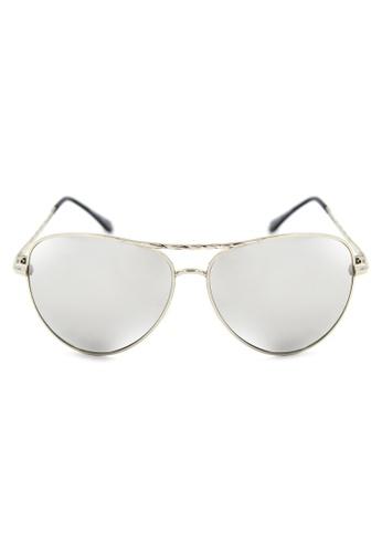 Maldives Eyewear silver Asher Aviator Twist   Arm Design Sunglasses A26-Y MA573GL51LXGPH_1