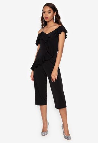 d2c976d471e2e Shop Ashley Collection One Shoulder Ruffle Jumpsuit Online on ZALORA ...