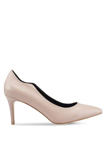 Bata beige Pointed Toe Heels 45385SH16F9CFEGS_1