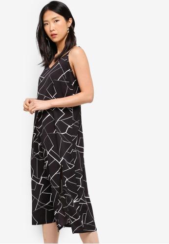 ZALORA BASICS black Basic Midi Slip Dress 86290AAED8EDF8GS_1