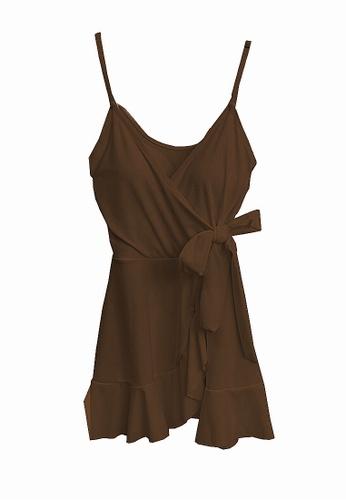 Twenty Eight Shoes brown VANSA  One-Piece Swimsuit  VCW-Sw10 C0040US812548EGS_1