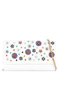 d5ae91c1d2e Dune London white Betula Candy Flower Enamel Bag E50F0AC6A30693GS_1