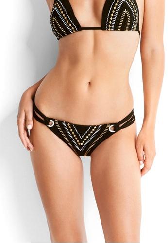 Seafolly black Cabana Coast Twin Strap Hipster Bikini Bottom SE198US0RRVVMY_1