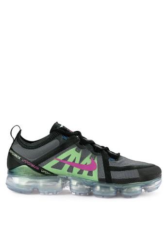 Nike black and green and grey Air Vapormax 2019 Prm Shoes B395ESH2863762GS_1