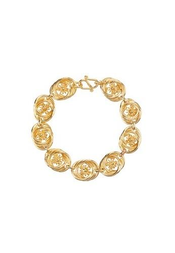 1901 Jewelry Swirl Bracelets Lapis Emas 24K
