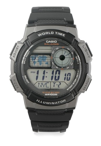 Casio black Casio Jam Tangan Pria - Black Grey - Resin - AE-1000W-1BVDF 82ADDAC0B2E51FGS_1