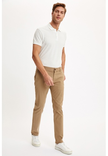 DeFacto brown Man Chino Trousers 28C3EAAFB54333GS_1
