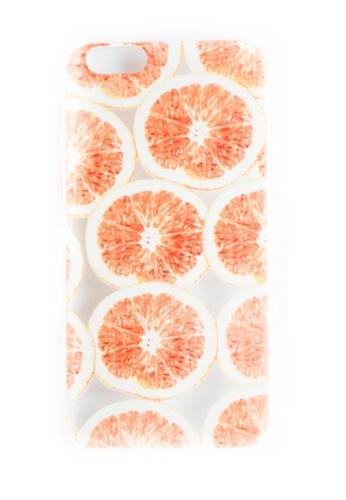 Fancy Cellphone Cases multi Oranges Soft Transparent Case for iPhone 6/6s  FA644AC51KKMPH_1