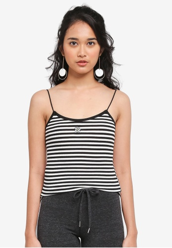TOPSHOP black Daisy Striped Vest 11773AA2542CE7GS_1