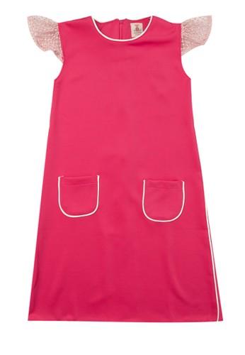 Tiny Button pink Girl Piping Standart Dress 91958KA4A9F6F5GS_1