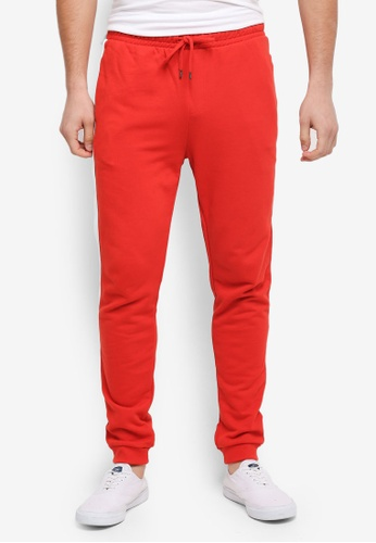 Topman red Taped Jogger Pants B3A2BAA80A5BF4GS_1