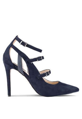 ZALORA navy Multi Strap Pointed Pumps 2BDDAZZ009FA49GS_1