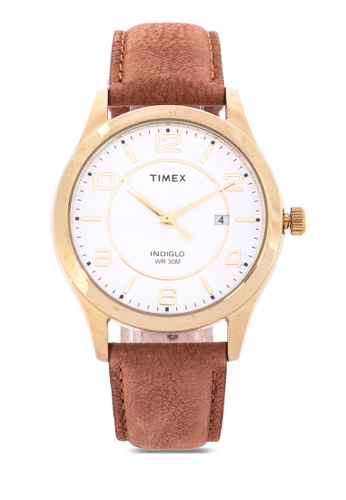 TIMEX brown Grand Street Leather Watch 1DB39AC9D2E3C4GS_1