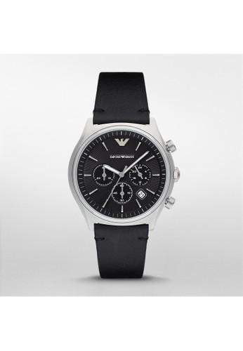 Emporio Armani ZATAesprit台灣outlet簡約系列腕錶 AR1975, 錶類, 紳士錶