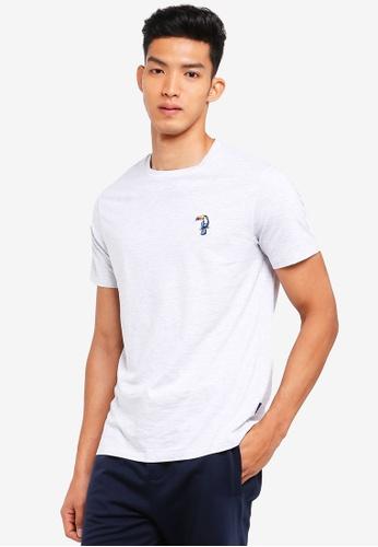 Burton Menswear London 灰色 休閒刺繡T恤 7C8E0AADC74465GS_1