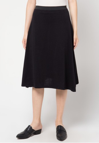 Noir Sur Blanc black Ladies Midi Skirt NO321AA99HVGID_1