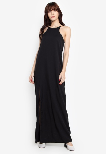 ed1a8446 Shop Chloe Edit Halter Maxi Dress With Gold Metal Strap Online on ZALORA  Philippines