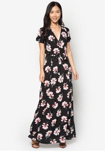 花卉裹飾連身長裙, zalora 折扣碼服飾, 洋裝