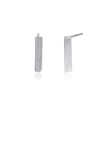 Glamorousky silver 925 Sterling Silver Simple Fashion Geometric Strip Stud Earrings 9C887AC0A61CCAGS_1
