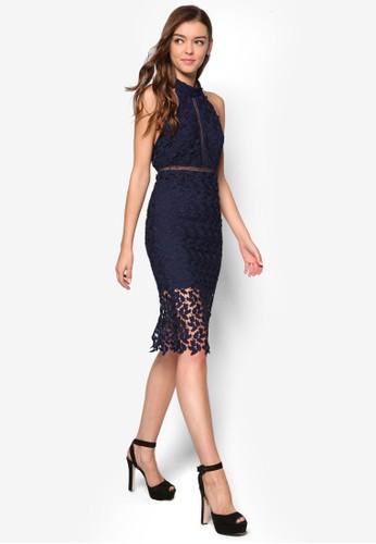 Gemma 蕾絲鉤花esprit地址繞脖洋裝, 服飾, 服飾
