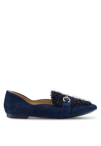 Berrybenka 藍色 拼接樂福鞋 E3164SH597A2F4GS_1