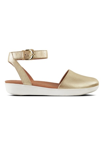 5024ef4bb5f FitFlop gold Fitflop Cova Closed-Toe Sandals Mt Leather (Metallic Gold)  D31A3SH83C5157GS 1