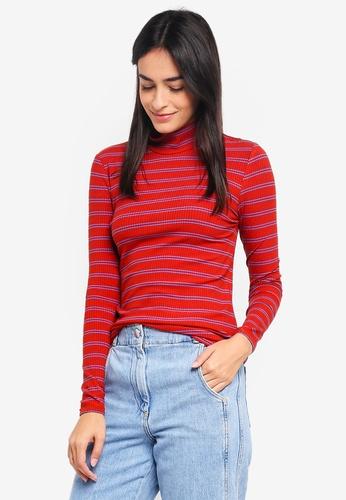 Vero Moda red and multi Selina Long Sleeve Top 507AAAAADD0800GS_1