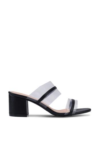 Noveni 黑色 Semi Transparent Heels 6DC09SH27D9F59GS_1