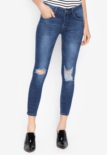 Balaynor blue Skinny Distressed Jeans BA55AAAB886EBEGS_1