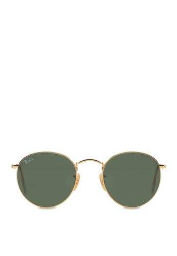 Ray-Ban Round Metal RB3447 Sunglasses RA370GL08SBNSG_1