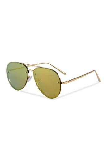 Quattrocento Eyewear Quattrocento Eyewear Italian Sunglasses with Gold Lenses Model Martini 0688BGL50110B4GS_1