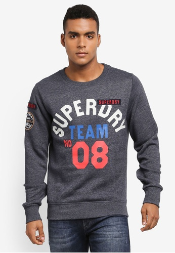 Superdry navy Famous Flyers Crew Sweatshirt 00882AAFB5B0A8GS_1