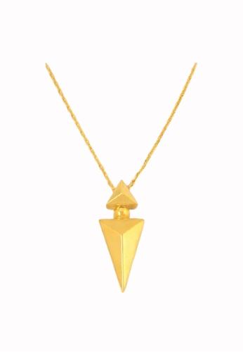TOMEI gold Minimalist Arrow-esque Necklace - Tomei Yellow Gold 999 (24K) (BTN-5D-SET17) 3A7A7AC318C6CCGS_1