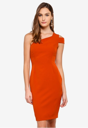 Vesper orange Fiona One Shoulder Mini Dress B33FCAAA8FB13AGS_1