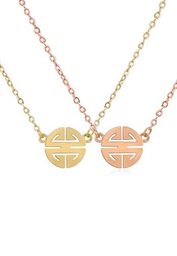CELOVIS gold CELOVIS - Miracle Wufu Blessings Amulet Necklace Jewellery Set 9B77DAC7C74D38GS_1