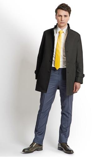 Gay Giano black Padded Trench Coat C540DAA7BB5F31GS_1