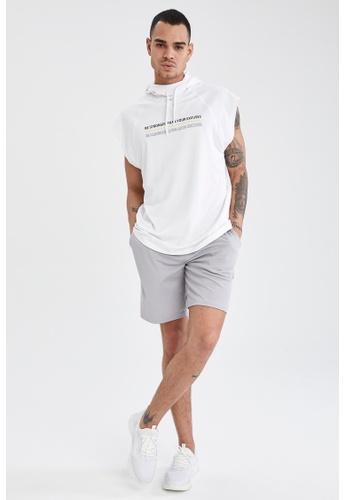 DeFacto grey Slim Fit Short 76CE3AA70CCBEBGS_1