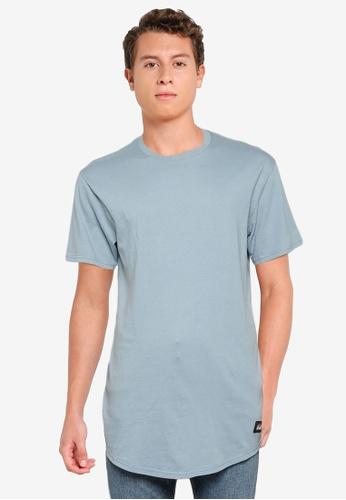 Hollister blue Thrift Longline Curved Hem T-Shirt 75D8DAA757C52CGS_1